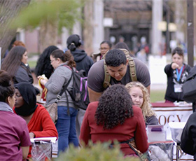 California Community Colleges students mingle on campus.