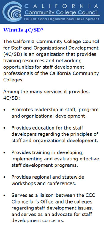 The California Community College Council for Staff and Organizational Development