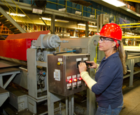 An Instrumentation Technology student at Los Medanos College; photo courtesy of the CCC Chancellor's Office